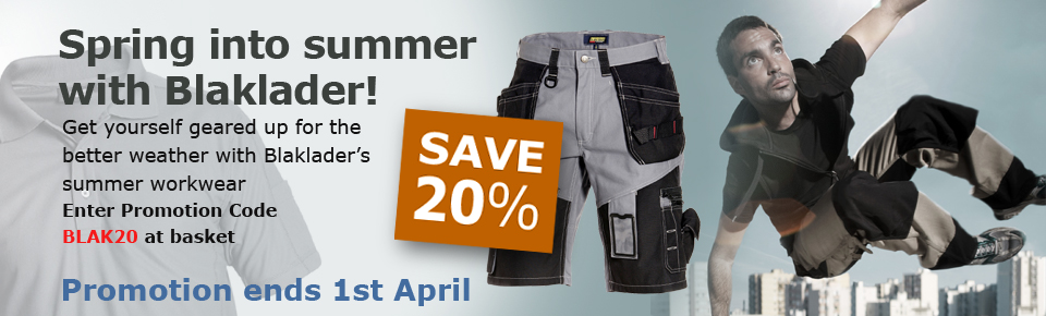 20% off ALL Blaklader Workwear ends 1st April 2012
