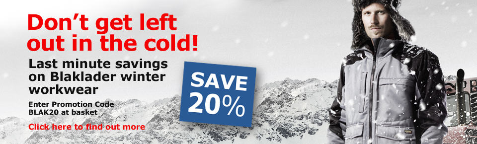 Feeling the chill? 20% Off ALL Blaklader Winter Workwear Today!
