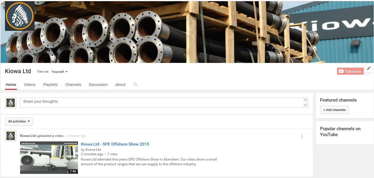Kiowa Ltd are Now on YouTube