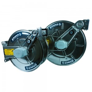 Kiowa AV Slow Retraction, Spring Rewind Stainless Steel Reel