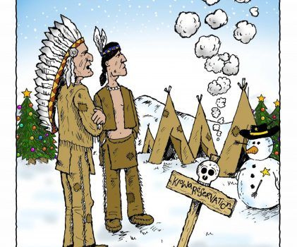 'Have um heap-big Happy Christmas from the Tribe'